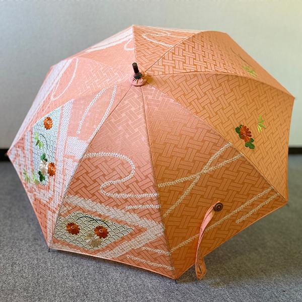 きものリメイク日傘